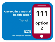 Dial 111 option 2 for NHS First Response Service