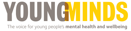 logo with the words Young Minds, the voice for youn people's mental health and wellbeig