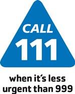 NHS 111 Logo - call 111 when it's less urgent